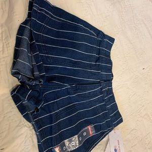 pacsun stripped jean shorts xs